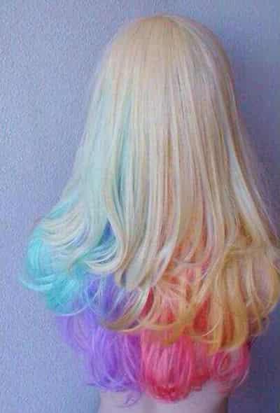 长发女生渐变染发颜色技巧的选择