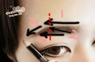 韩式粗平一字眉画法与修法