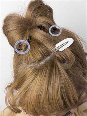 短发烫发盘发发型教程 给头发系个蝴蝶结