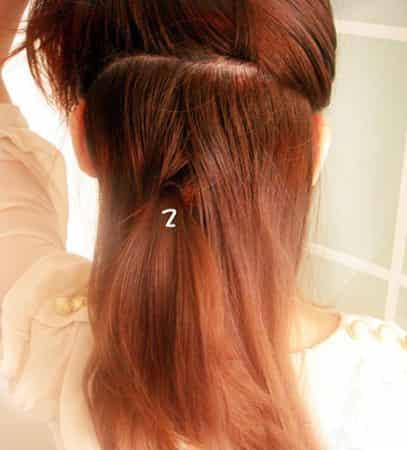 花苞头发型的扎法图解 编发盘发教程一分钟搞定 (6)