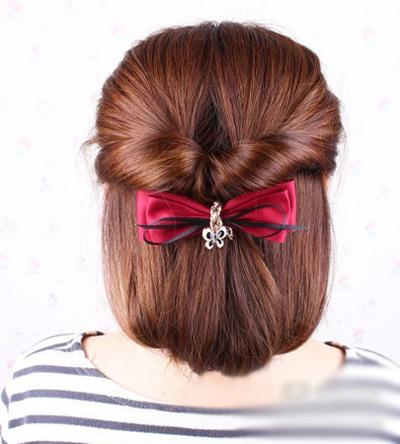 不舍得剪头发的问题而纠结了,这期由小编带来的简易长发变短发扎法图片