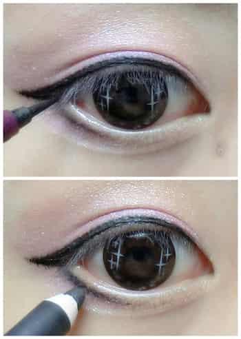 简单韩式甜美妆容教程 双色眼影的浪漫温婉图片