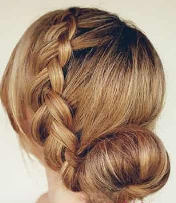 最简单的麻花辫花苞头扎法 塑造优雅韩式盘发图片