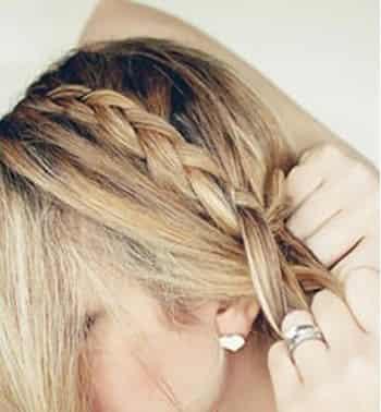 最简单的麻花辫花苞头扎法 塑造优雅韩式盘发 (4)图片