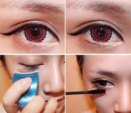 步骤 有妆胜无妆的通透肌感 日系可爱大眼妆画法 深邃眼窝or甜美卧蚕