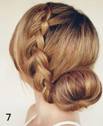 麻花辫+花苞头编发发型图解; 最新简单编发 发型图解 麻花辫+花苞头
