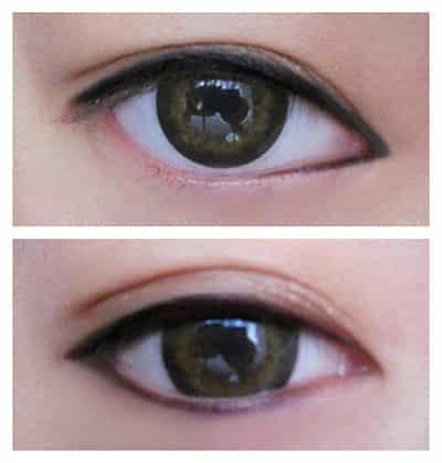 零基础化妆者眼线教 双眼皮眼线画法步骤
