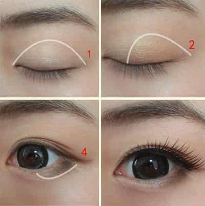 眉笔画眼线步骤图