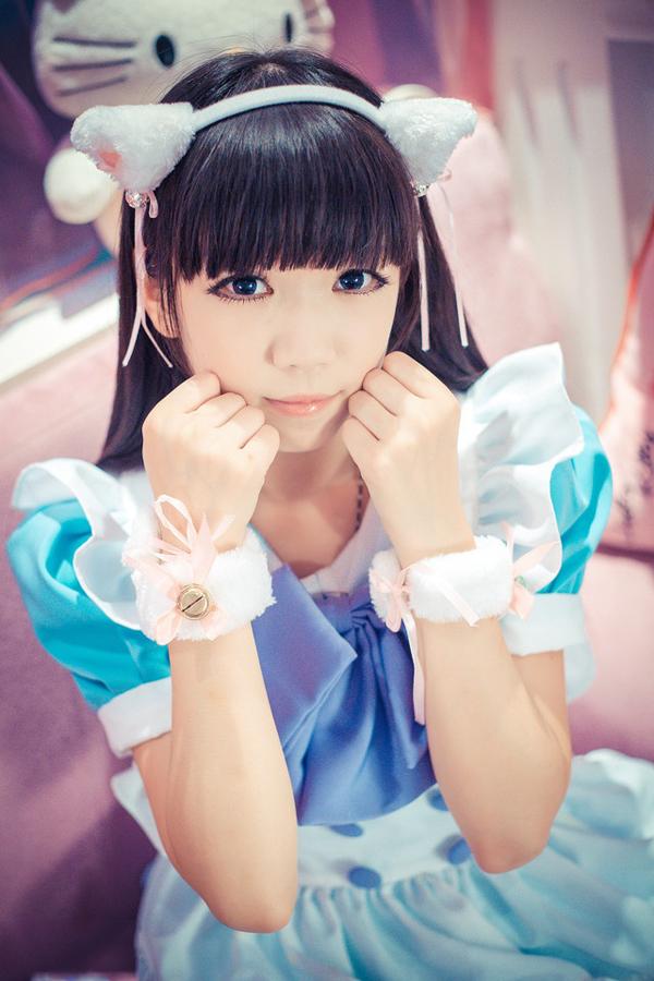 高清日本动漫萌妹子图片 猫耳女仆与她的hello
