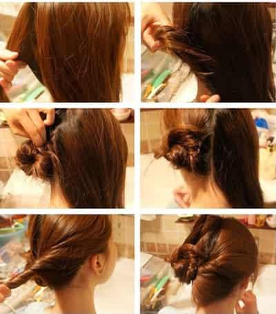 夏季韩式少女系盘发 简单九步骤减龄发型图片