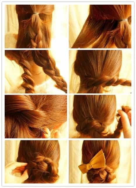 夏季最简单的盘发 学习发型扎法展现优雅图片
