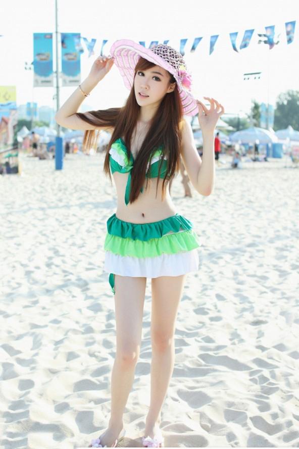 超有料清纯美女沙滩写真 甜美性感充满迷人气