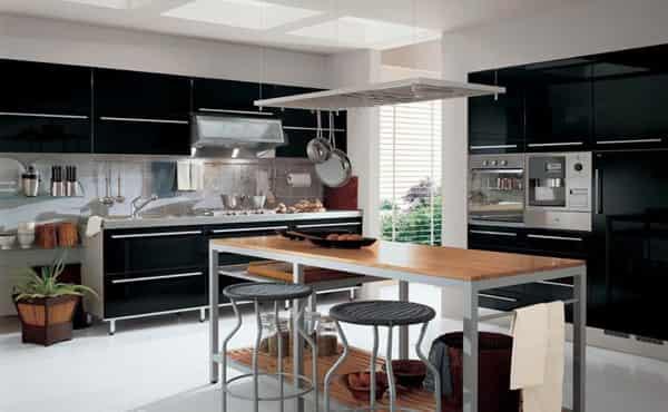 八種風格的現代整體廚房裝修設計效果圖
