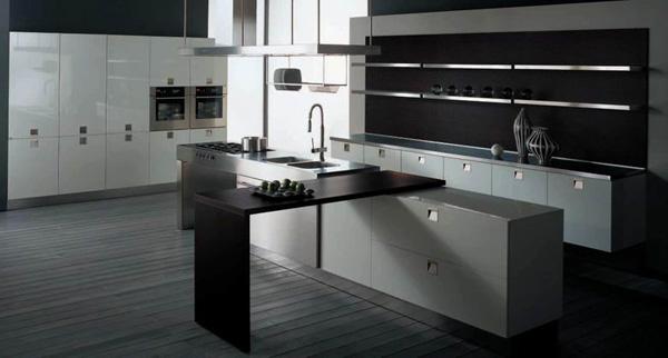 装修效果图对比鲜明 你是否希望你的厨房是充满魅力并让人感兴趣的?最有效的方法是在空间里做出鲜明的对比。使用不同的颜色,表面纹理和样式,不论是利用在橱柜,家电甚至是在地板上,强烈的对比都让人过目不忘。将植物引进厨房是一个很有趣的尝试,一棵绿色的植物能让在厨房作业的人感到灵动的愉悦。什么?你打算在厨房种菜?那当然是可以的,自给自足是一种不错的生活方式。前提是,油烟要控制好哦。  整体厨房效果图 空间宽敞 厨房的空间永远都是有限的,面积再大的厨房都无法媲美客厅和睡房。但是我们又很希望别人觉得自家的厨房是宽敞的。