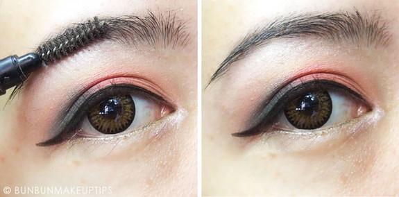 步骤四:画眼线 使用眼线液笔