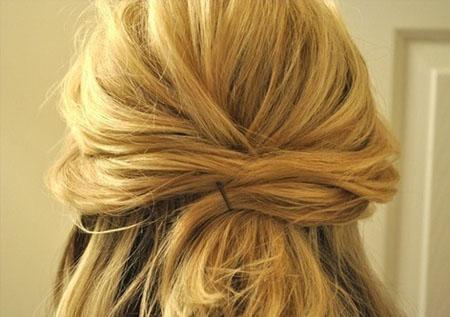 中短发简单扎发发型 每个人都会的盘发发型