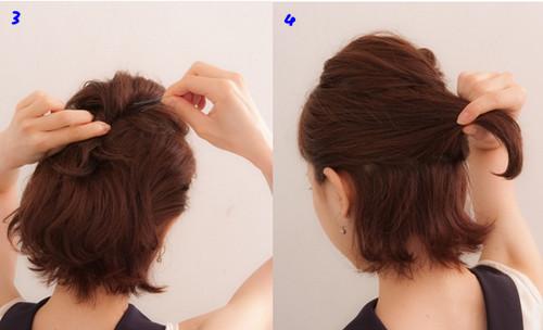 韩式短发发型扎法图解 一分钟打造气质女神 --韩式短发发型扎法 韩式