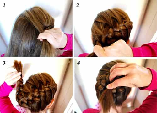 新娘般优雅diy发型   七丽女性; 新娘简单发型步骤图片