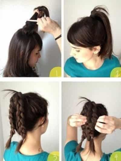 中长发发型怎么扎好看 两款编发教程轻松显时尚 长卷发发型图片 可爱图片