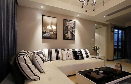 小户型婚房装修效果图 文艺咖啡色打造简约风格