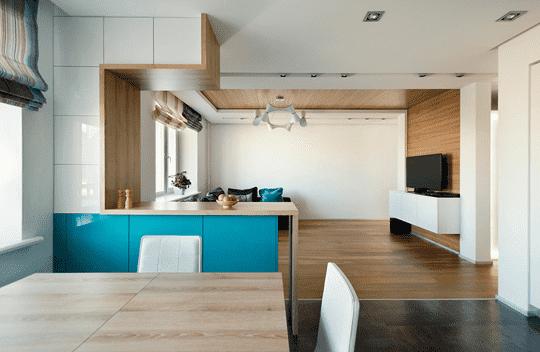 100平方房屋设计图 l形北欧风装修 高清图片