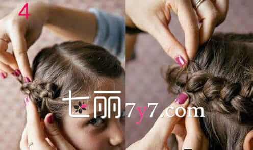 小孩头发怎么扎好看 妈妈必学法式儿童公主头编发