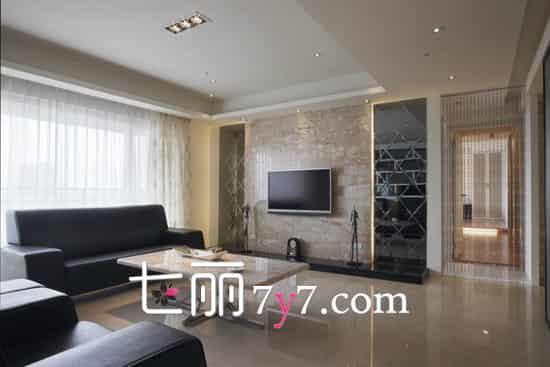 客厅大面积电视背景墙效果图