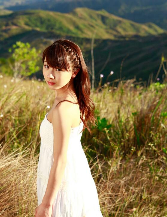 十七岁清纯美女写真图片 夕阳下的氧气美人 第