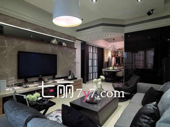 小户型中式风格客厅装修效果图 融合现代别有韵味