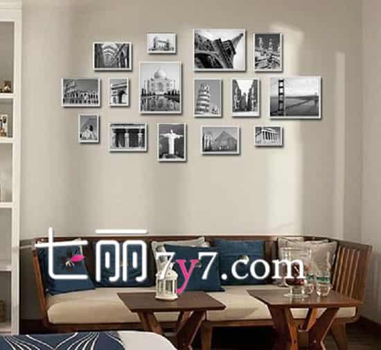 小户型客厅照片墙设计效果图 把美好瞬间展示出来高清图片