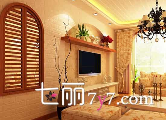 客厅时尚电视背景墙效果图