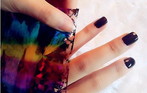 原宿风bling星空美甲教程 让美丽在你的指尖传递图片