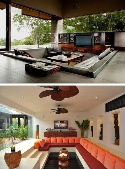 欧式内嵌式沙发图片 装饰客厅新时尚