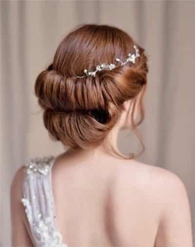 唯美新娘盘发发型 人生最美的一场戏 (5)