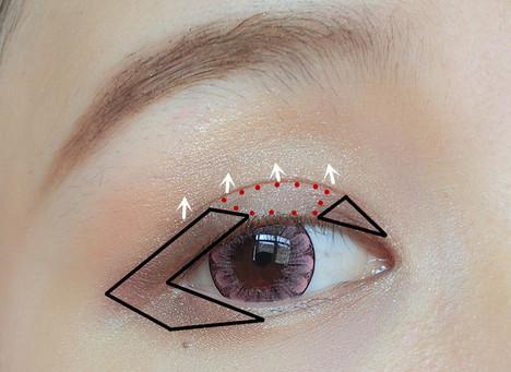 避免隐形危害 新手化妆教程图解 韩国无辜清新眼妆的画法  step2:之后