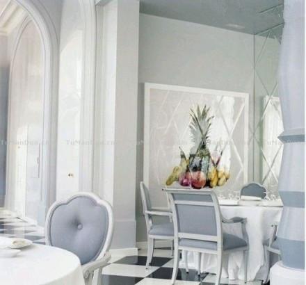 地中海西餐厅装修效果图look墙角设计高清图片