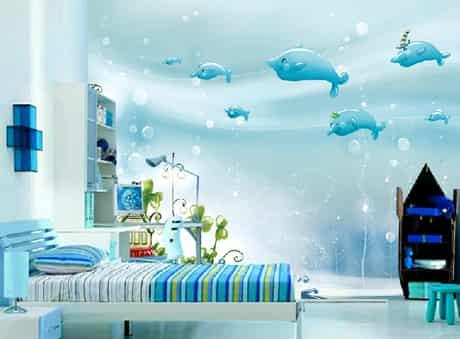 絢麗多彩兒童房墻紙效果圖 炫出寶寶美好未來