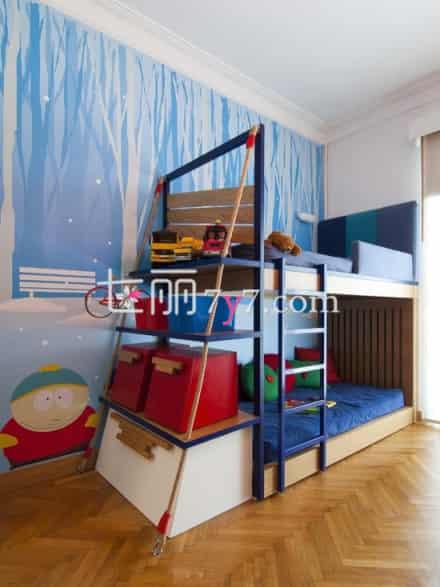 上下铺儿童房装修效果图 熊孩子的卧室设计由你掌握
