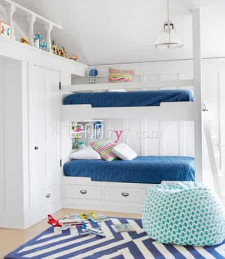上下铺儿童房装修图熊孩子卧室设计你掌握