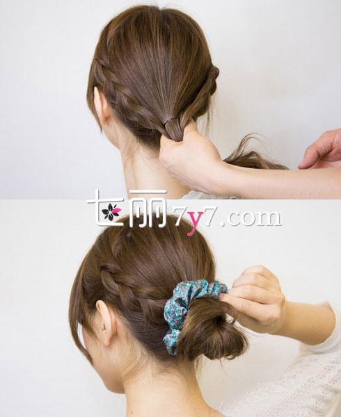 简单优雅发型要你好看 我想学盘发 简易时尚盘发扎法 韩式简单蓬松