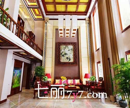 216㎡中式别墅装修效果设计图