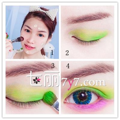 夏日桃花眼妆的画法步骤 玩转色彩你最迷人