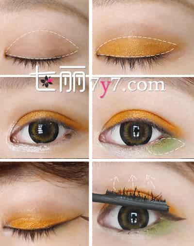 淡妆眼影画法图解