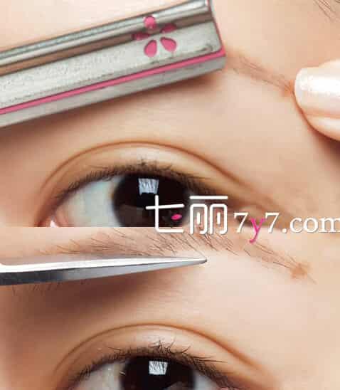懒人修眉毛的步骤图片 韩式超夯一字眉最百搭妆容