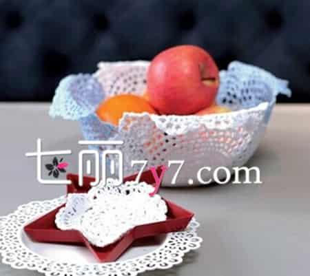 蕾丝果盘手工diy制作 省钱装饰又有情调的王道