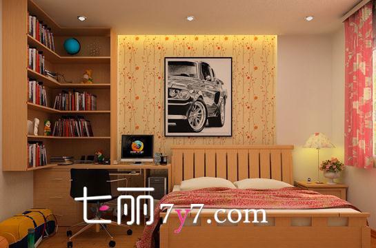 超迷你書房家居裝飾 兼顧臥室一起勞逸結合
