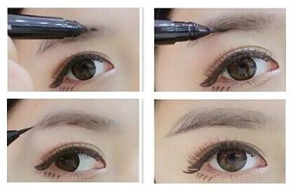 初学者化妆画眉毛 简单方法容易上手