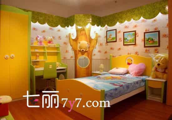 欧式田园风格女孩卧室装修效果图