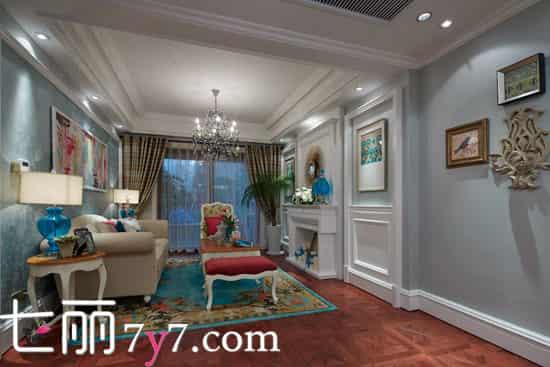 90平米两居室装修效果图 奢品法式风情营造自然温馨感