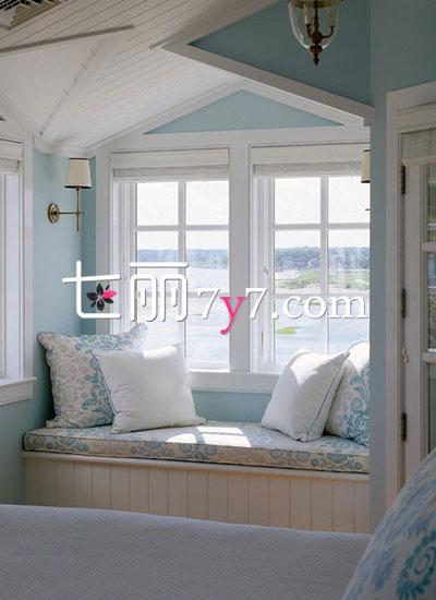 欧式田园风格飘窗设计